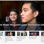 Kompas Hari Ini Semakin Menarik, Mengedepankan Kesederhanaan Pernikahan Putra Pertama Presiden Joko Widodo.