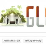 Tampilan Mbah Google Spesial hari Kemerdekaan Indonesia 17 Agustus 2015